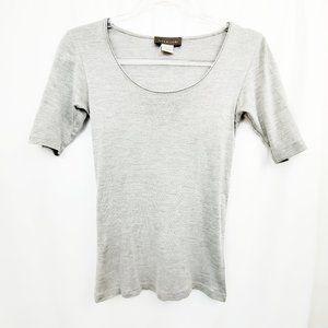 ROSEMUNDE Copenhagen Cotton Silk Gray Knit Top EUC